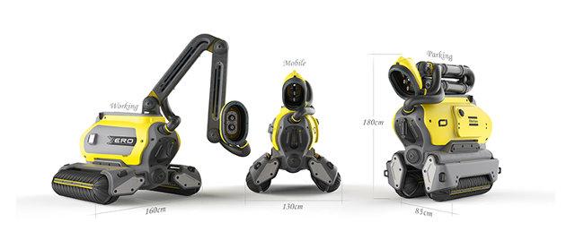 Dimensiones robot-ERO